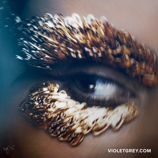A close-up of Ms. Kardashian's eye. (Photo: Ben Hassett)