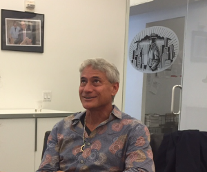 Where will the next Greg Louganis get his start? (Mr. Louganis at the Observer offices last month.)