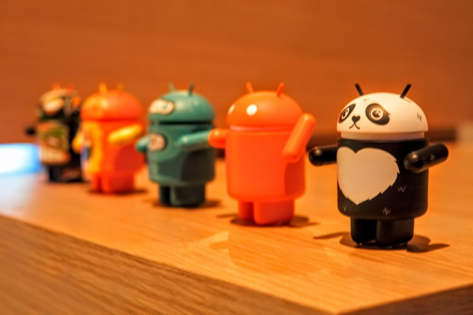 Android figurines at a recent Google event in Manhattan. (Photo: Brady Dale for Observer)