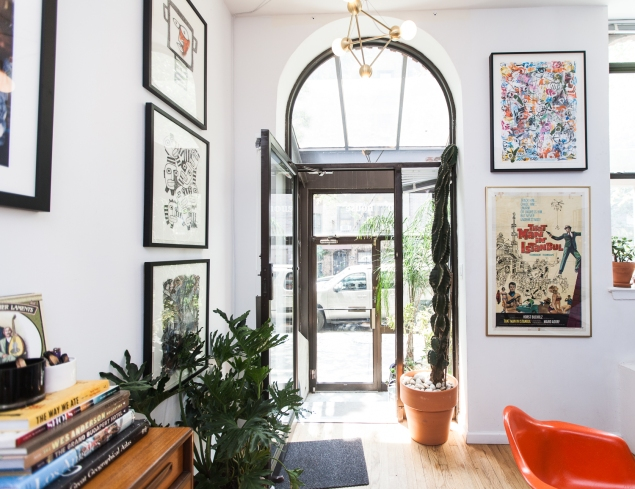 The front entryway (Photo: Emily Assiran for Observer)