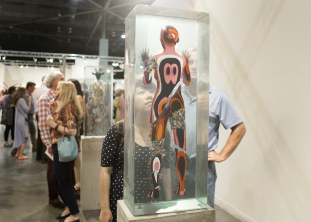 Works by Dustin Yellin at Seattle's Winston Wächter Fine Art. (Photo: Seattle Art Fair)
