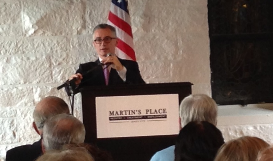 Former Governor McGreevey at Sacred Heart.