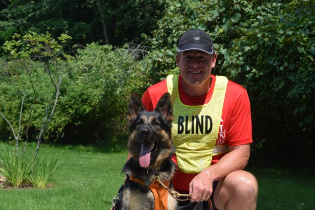 Richard Hunter and his newly graduated guide dog, Klinger. (Photo: Guiding Eyes for the Blind)