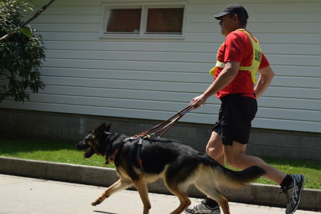 Klinger was chosen for his genuine love of running—it's not an extra burden for him. (Photo: Guiding Eyes for the Blind)