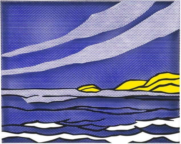 Roy Lichtenstein, Sea Shore, 1964. (Photo: Courtesy Roy Lichtenstein Foundation Collection, © Roy Lichtenstein Foundation)