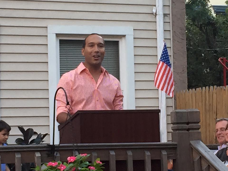 Former Assemblywoman Ruben Ramos formally kicks off his Ward 4 campaign last night in his Hoboken backyard.