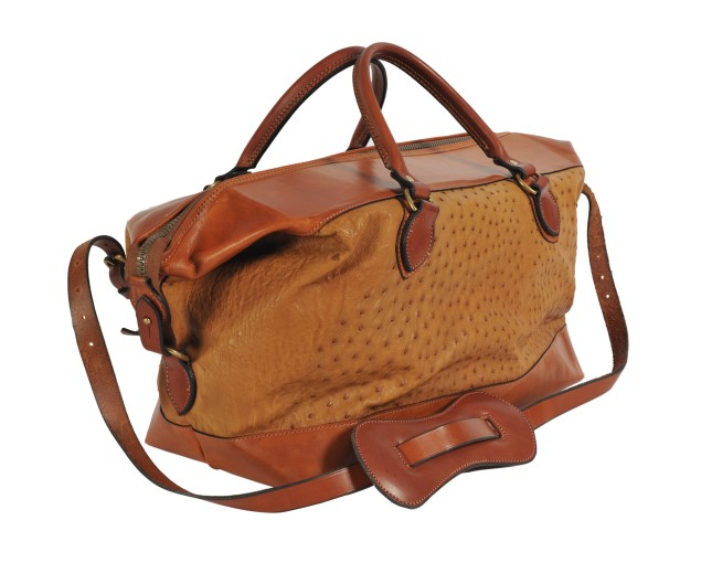 Gladstone Ostrich Bag by Rutherfords of England, $3,600. (Photo: Courtesy CelinŽ Haeberly)
