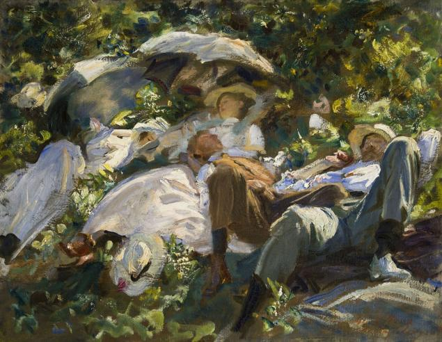 John Singer Sargent, Group with Parasols (Siesta), 1904. The Middleton Family Collection. (Photo: Courtesy The Metropolitan Museum of Art)