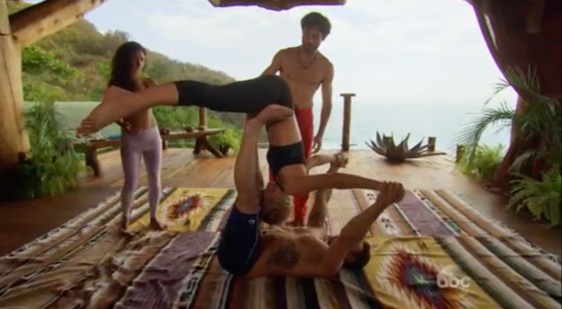"""relationships are a lot like doing tantric yoga with a sweat-drenched meathead"" (Photo: ABC)"