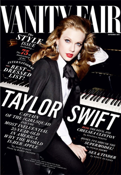 Ms. Swift on the cover of Vanity Fair. (Photo: Facebook/Vanity Fair)