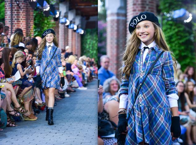 Maddie Ziegler on the Ralph Lauren runway. (Photo: Patrick McMullan)