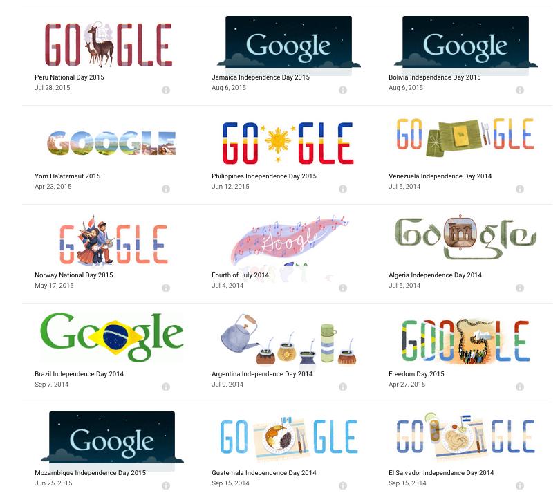 Google Doodles archive