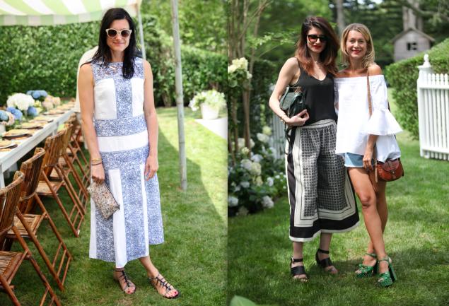 Left: Tabitha Simmons; Right: Irene Nicholas and Natalie Joos. (Photos: BFA)