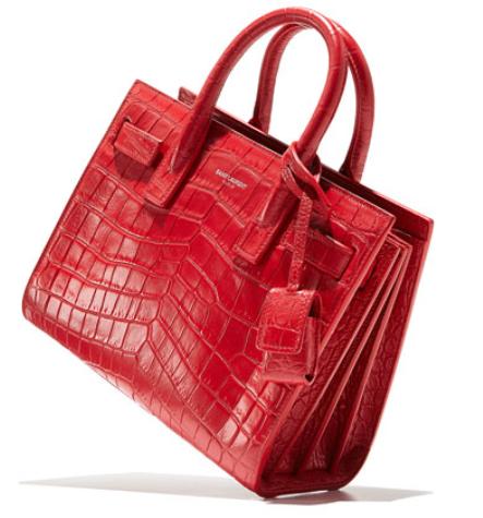 Saint Laurent Sac de Jour Crocodile-Stamped Satchel Bag, Red, $2,990, NeimanMarcus.com (Photo: NeimanMarcus.com)