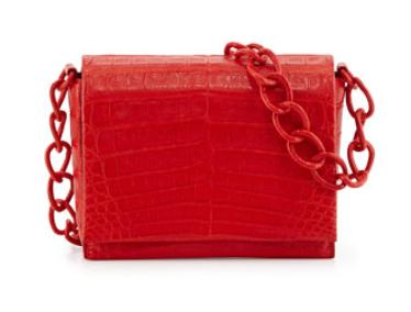 Nancy Gonzalez Small Crocodile Chain Crossbody Bag, Red Matte, $2,350, NeimanMarcus.com (Photo: NeimanMarcus.com)