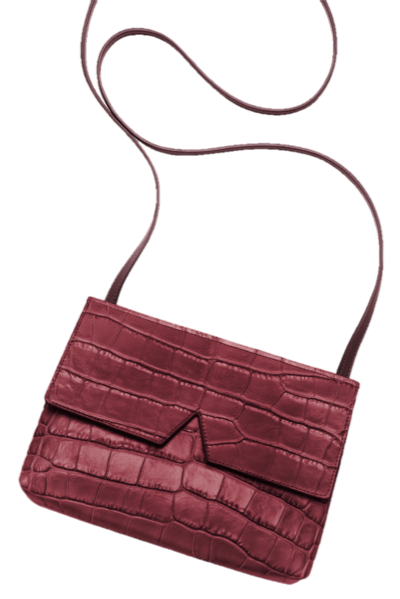 Vince Signature Collection Stamped Croc Baby Crossbody, $265, Vince.com (Photo: Courtesy)