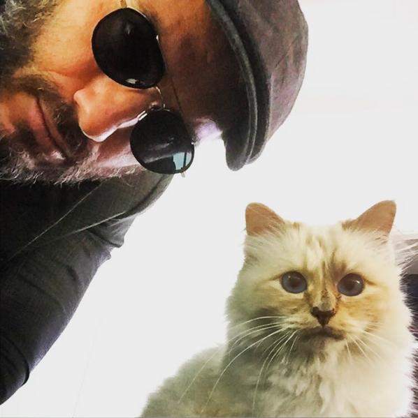 Sebastien Jondeau and Choupette. Photo: Instagram/Sebastien Jondeau)