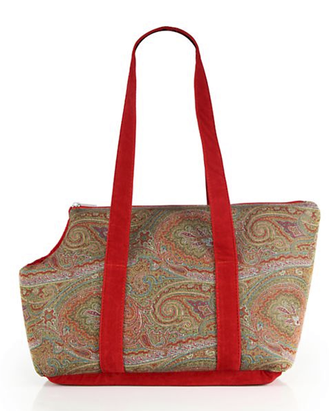 Etro Fausse Paisley Padded Dog Carrier, $660, Saks.com. (Photo: Saks Fifth Avenue)