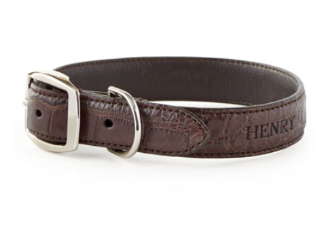 Alligator Dog Collar, $290-$360, NeimanMarcus.com. (Photo: Neiman Marcus)