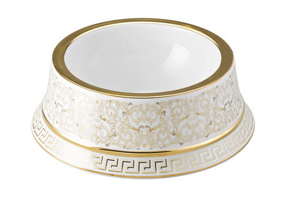 Versace Medusa Gala Dog Bowl, $903, us.amara.com. (Photo: Amara)