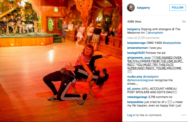 Katy Perry got her dance on. (Photo: Instagram/Katy Perry)