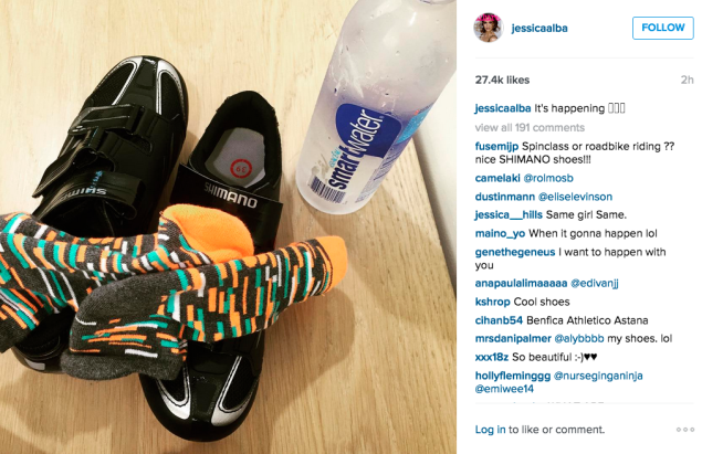 Jessica Alba's workout gear. (Photo: Instagram/Jessica Alba)