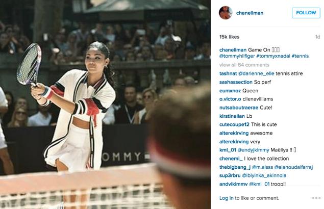 Chanel Iman played tennis. (Photo: Instagram/Chanel Iman)