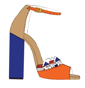 A sketch of Novis and Malone Souliers' shoe collab. (Photo: Novis x Malone Souliers)