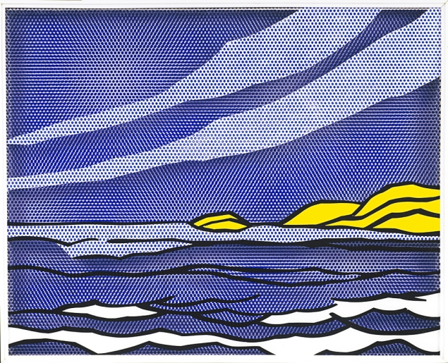 Roy Lichtenstein Sea Shore 1964 Oil and Magna on Plexiglass 24 x 30 in. (61 x 76.2 cm) Roy Lichtenstein Foundation Collection © Roy Lichtenstein Foundation