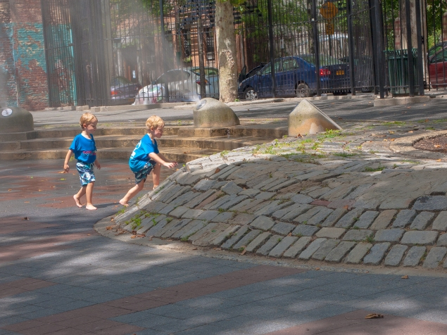 The very controversial cobbled berm at Playground 89. (Tashan Jackson for Observer.)