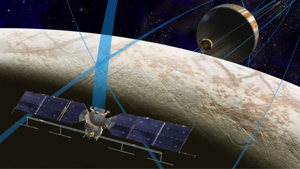 Artist's rendering of NASA's Europa mission spacecraft. via NASA/JPL-Caltech.