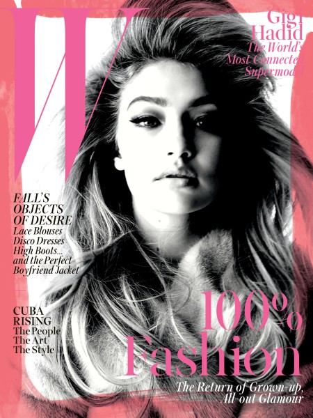 W's September 2015 Gigi Hadid Cover (Photo: Courtesy)