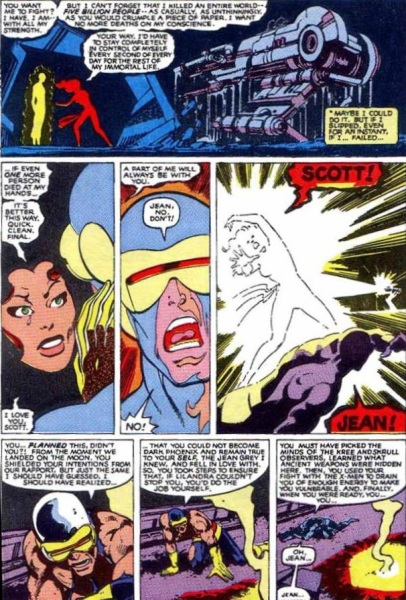The Phoenix sacrificing herself in X-Men #137. (Photo: Courtesy Comic Book Resources)