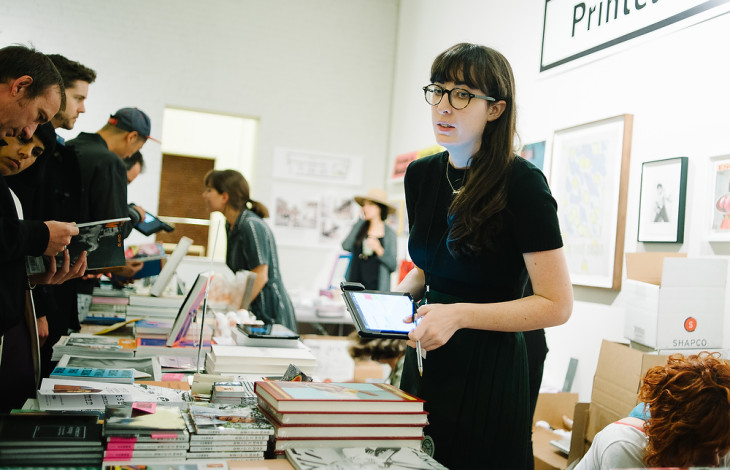 The Printed Matter booth at NYABF14. Photo courtesy BJ Enright Photography.