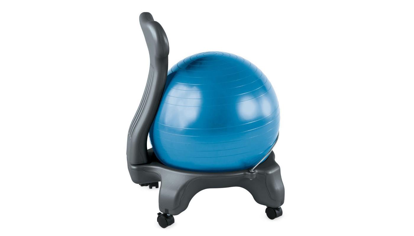 Balancing ball chair.