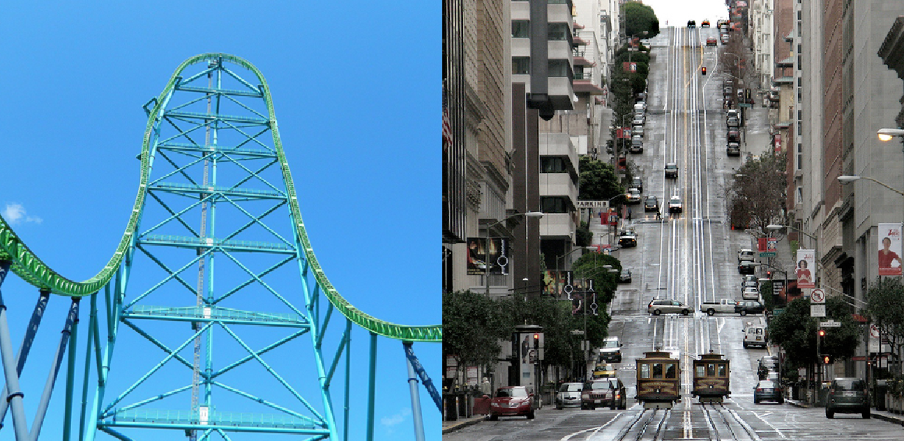 Pick the SF road.