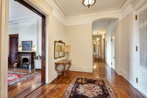 The apartment of late actress Lauren Bacall, which is listed with Warburg at $23 million and is currently in contract.
