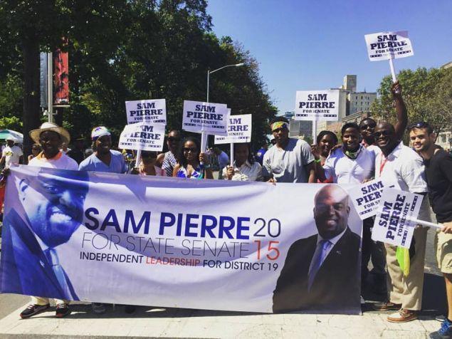 Supporters of Samuel Pierre (Photo: Facebook).