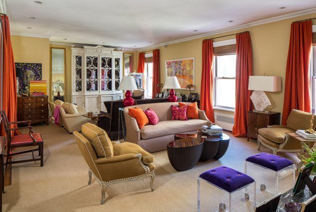 Interior designer Amanda Nisbet is putting her Madison Avenue pad on the market.