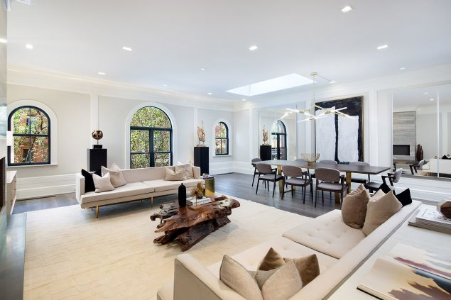 The carriage house, a former Jehovah's Witness property, has had a full renovation. (Travis Mark/Sothebys)