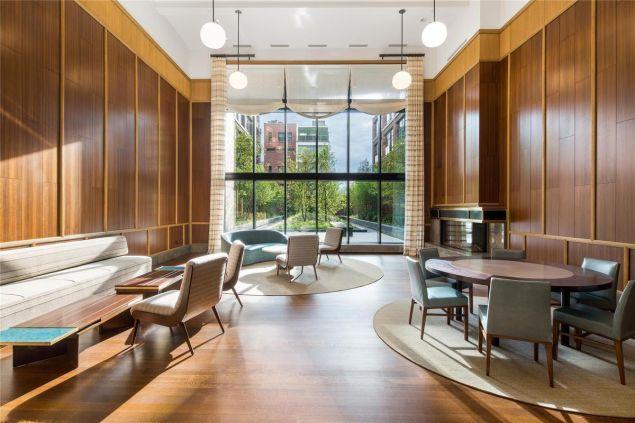 The lobby of Jon Bon Jovi's new pad at 150 Charles Street. (StreetEasy)
