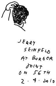 Jerry Seinfeld, drawn by Mr. Polan. (Image: Jason Polan)