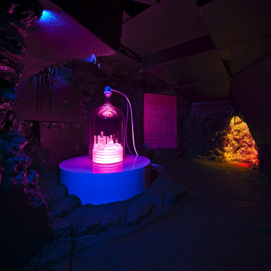 Inside the Exploded Fortress of Solitude. (Photo: Hauser & Wirth)