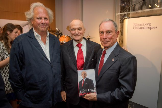 Graydon Carter, Ray Kelly and Michael Bloomberg. (Photo: Flickr/Michael Bloomberg)