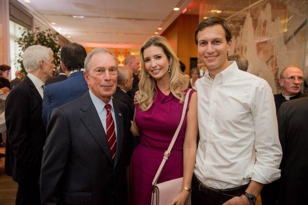 Michael Bloomberg, Ivanka Trump and Jared Kushner. (Photo: Flickr/Michael Bloomberg)