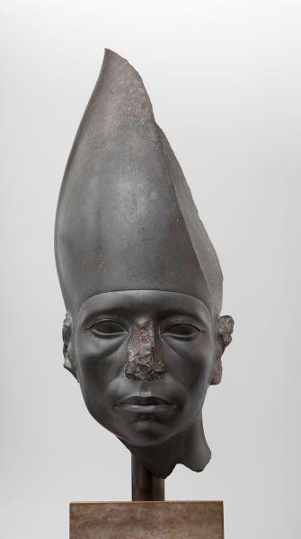 Head of a Statue of Amenemhat III Wearing the White Crown Greywacke Egyptian, Middle Kingdom, Dynasty 12, reign of Amenemhat III, ca. 1859–1813 B.C. From Egypt Ny Carlsberg Glyptotek, Copenhagen