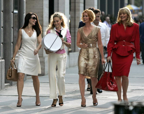 "on location for ""Sex and the City: The Movie"" on September 21, 2007, in New York City. (Photo by Brian Ach/WireImage)"