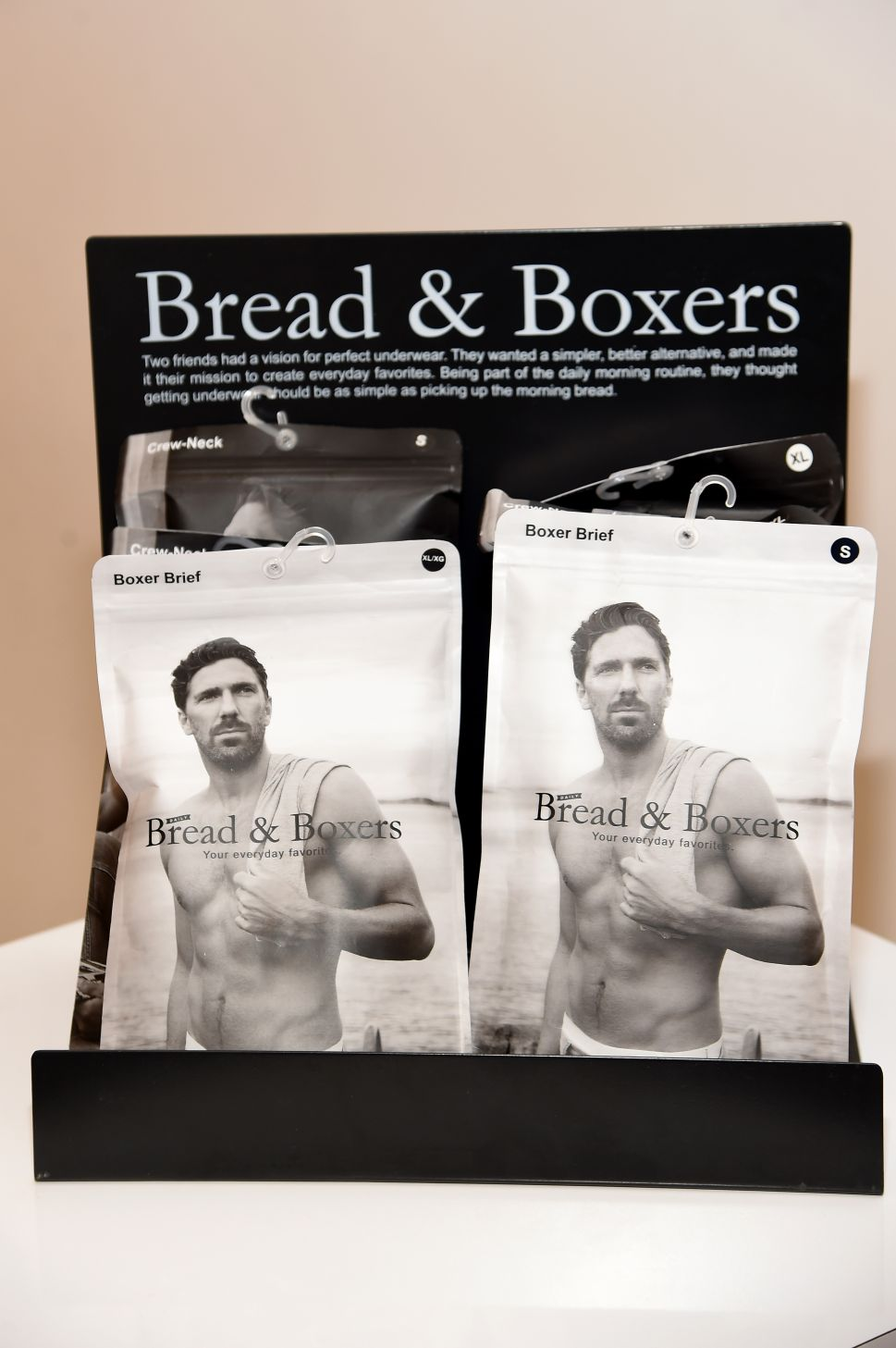 Henrik Lundqvist for Bread & Boxers (Photo by Jamie McCarthy for Getty Images).