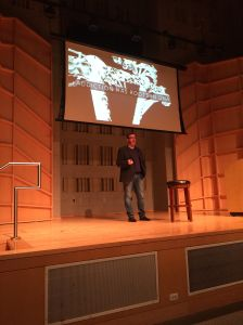Mike McHargue speaks at Baruch College