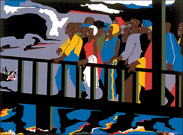 Jacob Lawrence from his Migration Series.